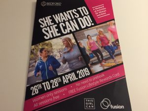 She Wants To, She Can Do: 28th April 2019 Come Along for Free Sessions